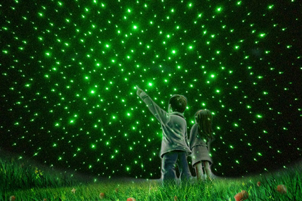 green lazer pointer light