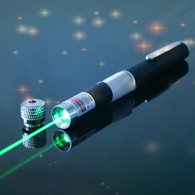 532nm green laser pointer 2 in 1 10mw