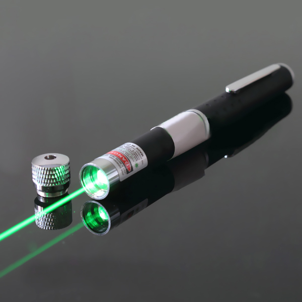 100mW waterproof green laser flashlight with 18650 battery
