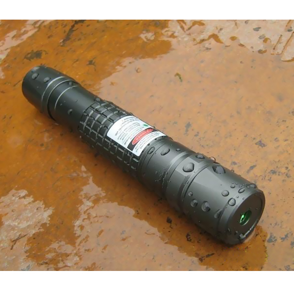 200mW waterproof green laser flashlight with 18650 battery