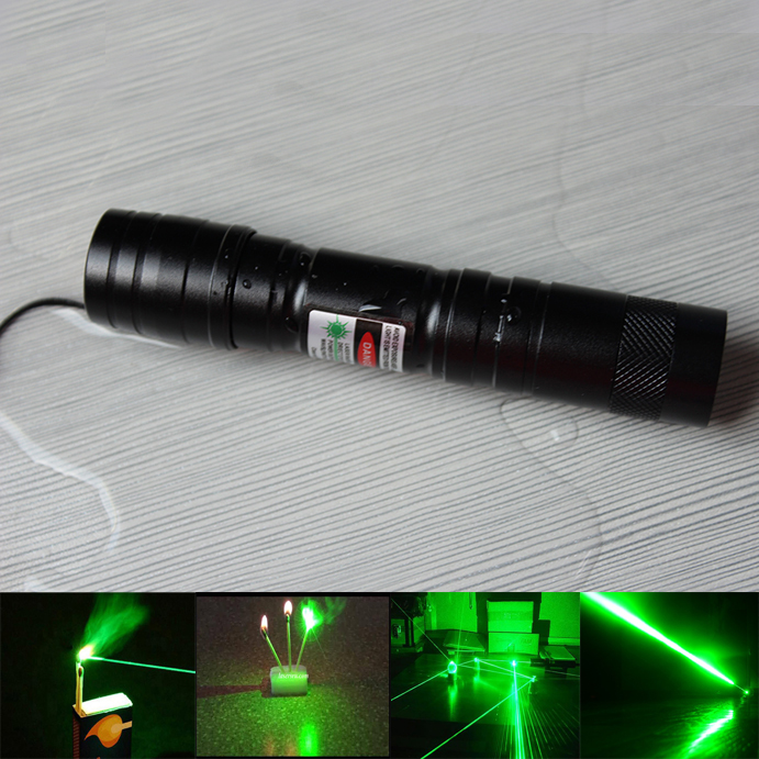 1000mw adjustable green laser flashlight