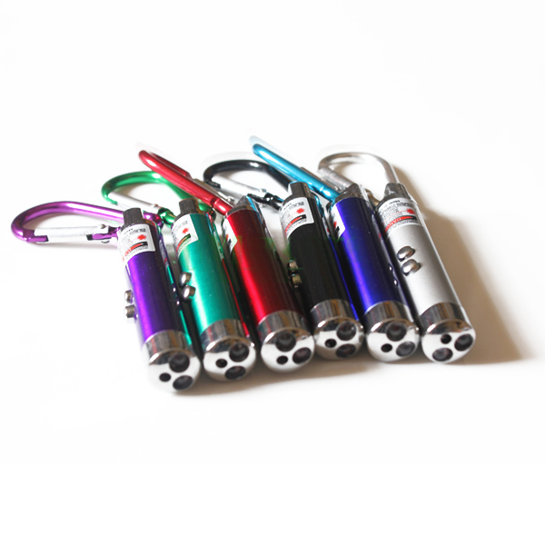 5mw red laser pointer LED flashlight laser pointer pen Violet currency check lights with Carabiner