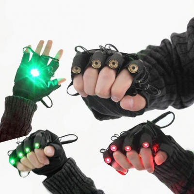 green laser left-handed glove