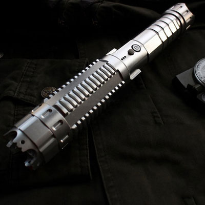 30000mw Blue Laser Pointer Silver Flashlight
