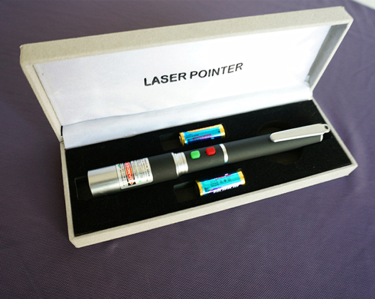 different colored laser pointer