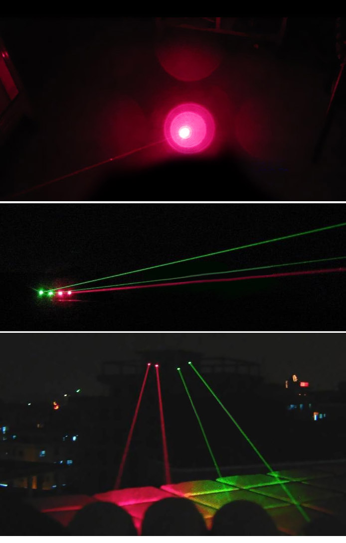 5mw red and green laser lights