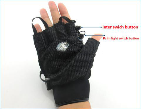 Green Laser Gloves With 4pcs Green Lasers And 1pcs Blue