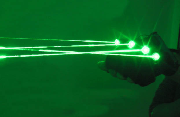 Laser Gloves with 4pcs Green Lasers