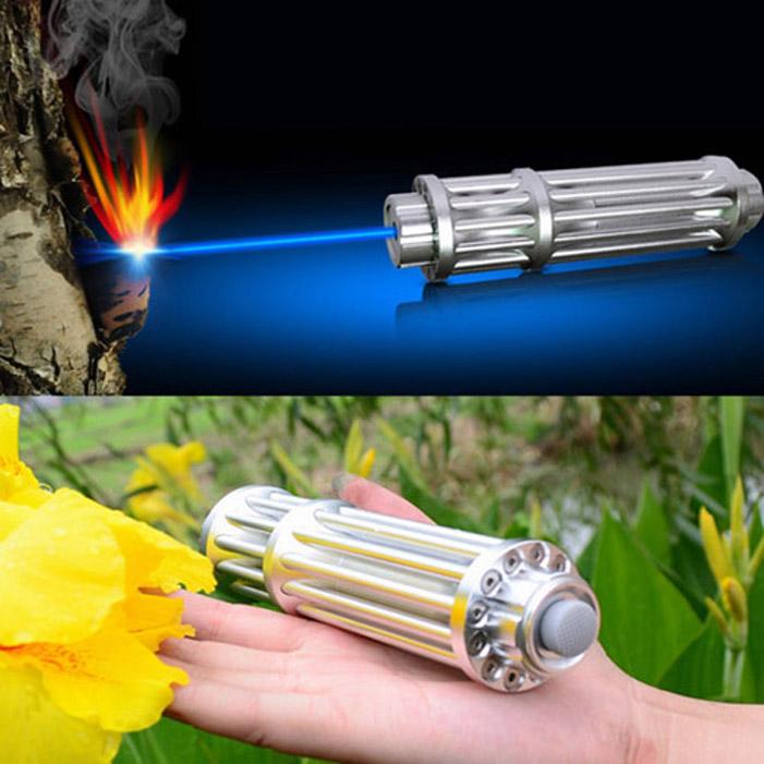 Gatling Laser Pointer 30000mW High Power Blue Burning Lasers Pen